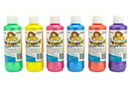 Peinture textile, flacon de 250 ml - 6 couleurs nacrées - Peinture Tissu 35096 - 10doigts.fr