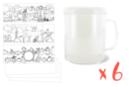Mugs à décorer - Lot de 6 - Plastique Transparent 12671 - 10doigts.fr