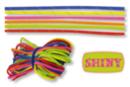 """Paracordes thème """"SHINY"""" - Set de 6 couleurs - Cordes Paracorde 16856 - 10doigts.fr"""