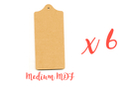 Set de 6 planchettes en bois médium (MDF) - Cuisine et vaisselle - 10doigts.fr