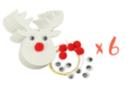 Suspension renne de Noël - Lot de 6 - Suspensions et boules de Noël 34036 - 10doigts.fr