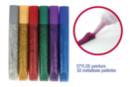 Stylos colle à paillettes 10 ml - 6 couleurs  - Colles scolaires 03308 - 10doigts.fr