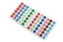 Strass adhésifs ronds couleurs assorties - 72 strass - Strass autocollants 19208 - 10doigts.fr