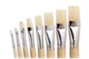 Pinceaux brosses plates assorties N° 2, 4, 6, 8, 10, 12, 14, 16 - Set de 8 - Brosses 02418 - 10doigts.fr