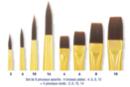 Pinceaux  à poils synthétiques -   8 pinceaux ( Plats N°4, 6, 8, 10 et Ronds N°2, 6, 10, 14) - Pinceaux poils synthétiques - 10doigts.fr