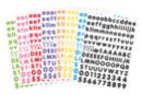 Gommettes alphabet - 8 couleurs assorties - Gommettes Alphabet, messages - 10doigts.fr