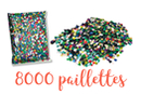 Sequins couleurs assorties - Set de 8000 sequins - Sequins 10135 - 10doigts.fr