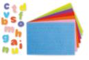 Lettres adhésives en caoutchouc, couleurs assorties - 950 pièces - Gommettes Alphabet, messages - 10doigts.fr