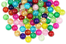Perles craquelées en verre - 90 perles - Perles en verre - 10doigts.fr