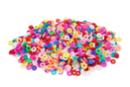 Perles rondelles Heishi couleurs assorties - 900 perles - Perles Heishi et coquillages - 10doigts.fr