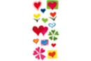 Stickers coeurs en plastique pour céramique, verre et miroirs - Stickers Fantaisies - 10doigts.fr