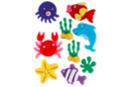 Stickers de la mer feutrine - Set de 9 - Formes en Feutrine Autocollante - 10doigts.fr