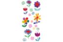 Stickers fleurs en plastique pour céramique, verre et miroirs - Stickers Fantaisies 08099 - 10doigts.fr