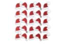 Stickers pailletés bonnet de Père Noël  - Set de 25 - Décorations Noël - 10doigts.fr