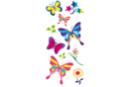 Stickers papillons en plastique pour céramique, verre et miroirs - Stickers Fantaisies 08100 - 10doigts.fr