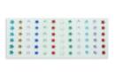 Minis strass étoiles adhésifs couleurs assorties - 72 strass - Strass autocollants 19226 - 10doigts.fr