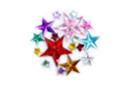 Strass étoiles assorties - 1 set (200 strass) - Strass - 10doigts.fr