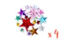 Strass étoiles assorties - 4 sets (800 strass) - Strass 13351 - 10doigts.fr