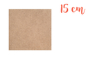 Support carré en médium MDF 15 x 15 cm - Supports plats 01008 - 10doigts.fr