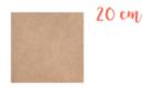 Support carré en médium MDF 20 x 20 cm - Supports plats 01118 - 10doigts.fr