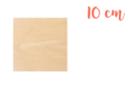 Support carré en bois 10 x 10 cm - Supports plats 18606 - 10doigts.fr