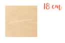 Support carré en bois 18 x 18 cm - Supports plats 18608 - 10doigts.fr