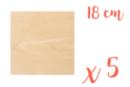 Support carré en bois 18 x 18 cm - 5 pièces - Supports plats 18616 - 10doigts.fr