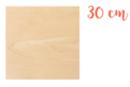 Support carré en bois 30 x 30 cm - Supports plats 18609 - 10doigts.fr