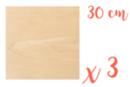 Support carré en bois 30 x 30 cm - 3 pièces  - Supports plats 18619 - 10doigts.fr