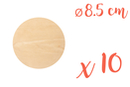 Support plat rond en bois ø 8,5 cm, Ep. 3 mm - 10 pièces - Supports plats 08391 - 10doigts.fr