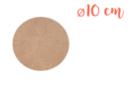 Support rond MDF Ø 10 cm (Epaisseur : 3 mm) - Supports pour mosaïques 11329 - 10doigts.fr