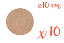 Support rond MDF Ø 10 cm (Epaisseur : 3 mm) - Lot de 10 - Supports pour mosaïques 12133 - 10doigts.fr