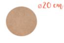 Support rond MDF Ø 20 cm (Epaisseur : 6 mm) - Supports pour mosaïques 07669 - 10doigts.fr