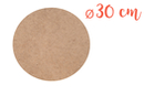 Support rond MDF Ø 30 cm (Epaisseur : 6 mm) - Supports pour mosaïques 11328 - 10doigts.fr