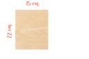 Support bois rectangulaire 22 x 15 cm (Epaisseur : 3 mm) - Supports plats - 10doigts.fr