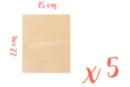 Rectangle en bois 15 x 22 cm, Ep: 3 mm - 5 pièces - Supports plats 18617 - 10doigts.fr