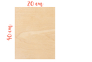 Rectangle en bois 20 x 40 cm, Ep: 5 mm - Supports plats 18605 - 10doigts.fr