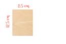 Rectangle en bois 8.5 x 12.5 cm, Ep: 3 mm - Supports plats 18603 - 10doigts.fr
