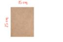 Support rectangle MDF 25 x 15 cm (Epaisseur : 3 mm) - Supports pour mosaïques 03469 - 10doigts.fr