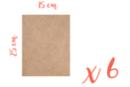 Support rectangle MDF 25 x 15 cm (Epaisseur : 3 mm) - Lot de 6 - Supports pour mosaïques 05603 - 10doigts.fr