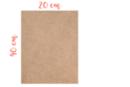 Support rectangle MDF 40 x 20 cm (Epaisseur : 6 mm) - Supports pour mosaïques 11327 - 10doigts.fr