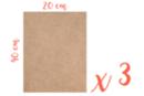 Support rectangle MDF 40 x 20 cm (Epaisseur : 6 mm) - Lot de 3 - Supports pour mosaïques 12145 - 10doigts.fr