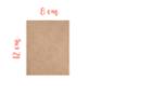 Support rectangle MDF 8 x 12 cm (Epaisseur : 3 mm) - Supports pour mosaïques 08392 - 10doigts.fr