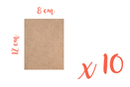 Support rectangle MDF 8 x 12 cm (Epaisseur : 3 mm) - Lot de 10 - Supports pour mosaïques - 10doigts.fr
