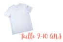 T-shirt 9 - 11 ans - Coton, lin 04982 - 10doigts.fr