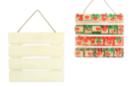 Tableau palette en bois naturel - Décorations de Noël en bois - 10doigts.fr