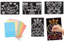 """Tableaux """"Fantaisie"""" - Set de 4 tableaux - Kits activités carteries 18701 - 10doigts.fr"""