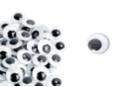 Yeux mobiles noirs Ø 18 mm - 50 yeux - Cartes et Stickers - 10doigts.fr
