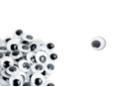 Yeux mobiles noirs  Ø 8 mm - 100 yeux - Cartes et Stickers - 10doigts.fr