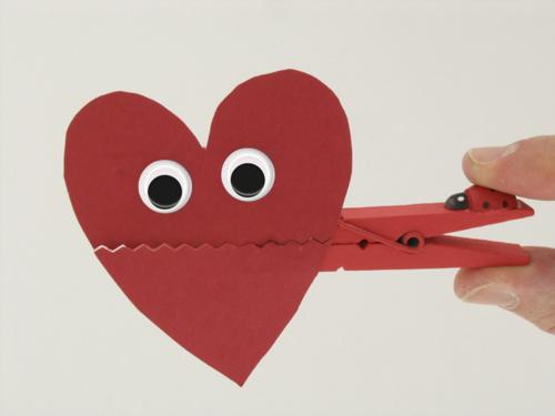 Pince à linge Coeur